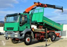 Iveco flatbed truck TRAKKER 350 Kipper 4,50m+Kran/FUNK*4x4*Topzustan