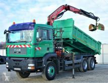 Ciężarówka platforma MAN TGA 26.350 Kipper 5,20 m + Kran 6x4 Top Zustand