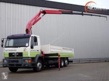 Vrachtwagen platte bak MAN 20 284 - 11TM Kraan, Crane, Kran, Crue
