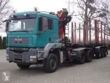 Camion remorque grumier MAN TGA 33.440 6X6 BL Holzkran Epsilon + Anhänger