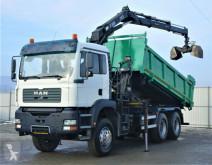 Camion plateau MAN TGA 33.350 kipper 5,10m +KRAN/FUNK*6x4* !!