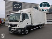 MAN tarp truck TGL 8.180 4X2 BL E6 Koffer LBW Klima AHK