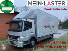 Mercedes 822 geschlossener Koffer Techau Seilwinde FB truck used car carrier