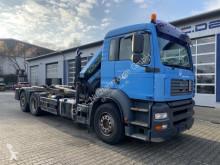 Camion MAN TGA 26.310 6x2 Abrollkipper + Kran PK 12502 polybenne occasion