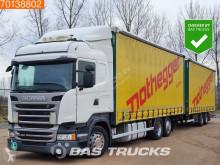 Kamion s návěsem posuvné závěsy Scania R 450