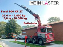 Camion cassone Scania R R500 Fassi F 900 XP 27,6 m -1.800 kg Seilwinde
