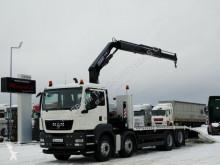 Camion plateau MAN TGS 35.360/8x2/TOW 7,9M+CRANE FASSI F170/RADIO