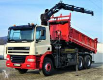 DAF flatbed truck CF 85.340 *Kipper 4,80 + Kran/FUNK*Topzustand!