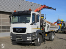 MAN TGS TG-S 18.440 4x2 2-Achs Kipper Kran 11m to. truck used three-way side tipper