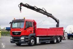MAN flatbed truck TGS / 26.400 / SKRZYNIOWY + HDS / 6 X 2 / ROTATOR