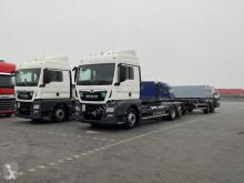 Грузовик контейнеровоз MAN TGX / 26.470 / ACC / E 6 / ZESTAW TANDEM BDF + remorque porte-conteneur