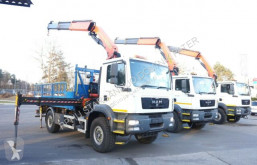 MAN flatbed truck TGM 18.250 PALFINGER PK 27001 EH EURO 5 KRAN