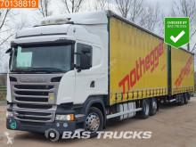 Nyerges vontató és pótkocsi Scania R 450 használt függönyponyvaroló