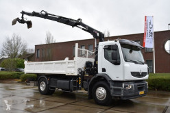 Vrachtwagen kipper Renault 29AHA6 DC2 45E3 - KIPPER - MANUAL - 292 TKM - HIAB 111 BS-3 HIDUO - GOOD CONDITION -