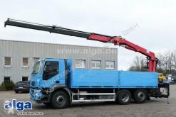 Vrachtwagen platte bak boorden Iveco AD260S42 6x2, Kran HMF 2000L2, Greifersteuerung