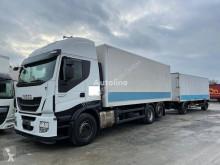 Camion cu remorca furgon Iveco Stralis X-Way Stralis 460E6 6x2 LBW Lenkachse Klima Stahlboden Durchlader