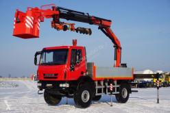 Camion plateau Iveco 150E25 / 4 X 4 / HDS PALFINGER PK 16502 / WIERTŁO