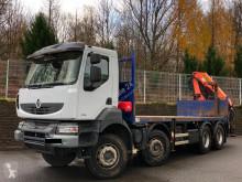 Teherautó Renault Kerax 410.32 8x4 Plateau Grue Euro 5 használt plató