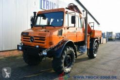 Camión Unimog U5000 L 4x4 DoKa Atlas Kran 120.2E 12m=750kg AHK caja abierta teleros usado