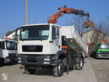 MAN three-way side tipper truck TGM TG-M 18.290 4x4 BB 2-Achs Allradkipper Kran
