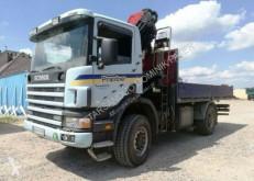 Scania flatbed truck 4x4 HMF 1563 K3 Cran Kran