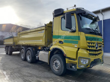 Mercedes three-way side tipper trailer truck Arocs 2646 6x4 E6 Kipper Bordmatik +Tandemanh.