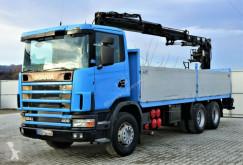 Camião estrado / caixa aberta Scania 124G 400 Pritsche 6,80m +Kran*6x4*Topzustand!