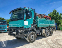 Renault three-way side tipper truck C460 6x4 Euro6 Kipper Atlas absattelbar Heckkra