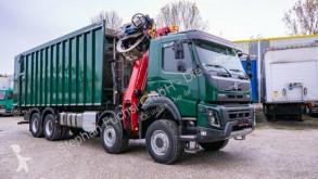 Volvo timber truck FMX 8x6 Demmler-Abschiebecontainer Mit Epsilon Q
