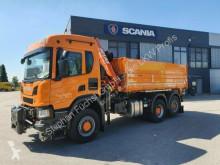 Scania three-way side tipper truck P P 410 B 6x4*4 HA Winterdienst Kommunal Kipper We