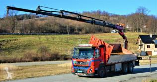Vrachtwagen Volvo FMX 410 Kipper 6,45 m+ Kran/FUNK*6x4 tweedehands kipper