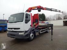 Camion platformă si obloane Renault 250 Pritsche mit Kran