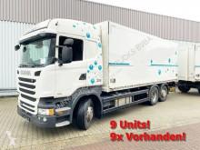Kamion dodávka Scania R450 LB 6x2-4 R450 LB 6x2-4 Getränkekoffer, Retarder, Lift-/Lenkachse, Stapleraufnahme, 14x Vorhanden!