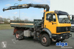 Mercedes 1824 AK 4x4, Allrad, Kran Hiab 100AW, Meiller truck used three-way side tipper
