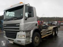 Kamión vozidlo s hákovým nosičom kontajnerov DAF CF430-6X4-MANUAL-RETARDER-ORG KM-WECHSELSYSTEM