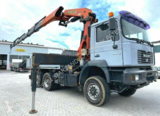 MAN flatbed truck 28.460 6x4x4 PALFINGER PK 36002 E Cran Kran