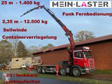Scania 124G-420 Fassi 330 +JIB 25m 1.400kg Seilwinde FB truck used flatbed