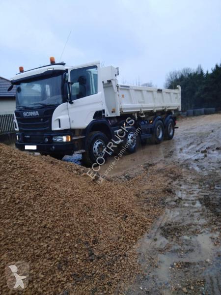 IMC33-0014 Camion 8x4 SCANIA R146 Topline 8x4 et remorque surbaissée 3essieux