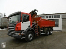 Camión volquete volquete trilateral Scania P380 Kipper 6x4 Bordmatik Kran Funk-FB