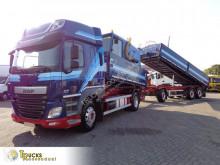 Lastbil med släp flak tre vagnar DAF