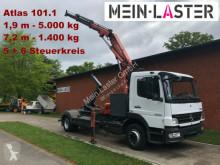 Kamión vozidlo s hákovým nosičom kontajnerov Mercedes 1224 Meiller Abroller +Atlas 101.1 - 7,3 m 1.4 t