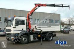 MAN three-way side tipper truck 18.360 BB TGA 4x2, Kran Palfinger PK10501