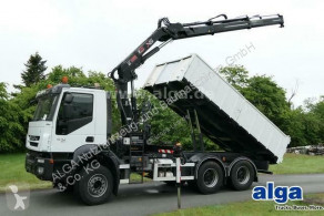 Camion Iveco AD380T41 6x4, Kran Hiab 144E-2, Greifersteuerung benne occasion