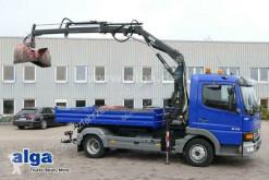 Mercedes 815 K Atego 4x2, Kran Hiab 045-2, Meiller, AHK truck used three-way side tipper
