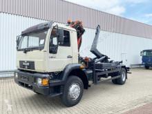 Camión Gancho portacontenedor MAN 18.284 LAC 4x4 LAC 4x4 mit Kran Palfinger PK 9501