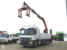 Camion Mercedes Actros 2644 L 6x4 Pritsche Heckkran Palf. PK 21000 plateau occasion