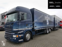 Scania beverage delivery box trailer truck R R 410 / Retarder / Lenk-Lift / KOMPLETT+Trailer