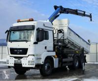 MAN TGS 33.480 Kipper 5,00 m + Kran/Funk *6x4! truck used flatbed