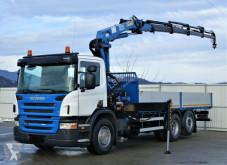 Camion plateau Scania P310 Pritsche 6,30m +Kran/FUNK *6x2*Topzustand!