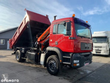 MAN TGA 310 HDS PALFINGER PK11502 // WYWROT NA BOK I TYŁ // HYDROBURTA // SUPER STAN // truck used tipper